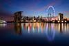 20171018-Canon EOS 750D-1259 (Bartek Rozanski) Tags: singapore skyline night ferris wheel city town reflection water urban asian skyscrapper modern