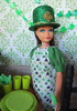 3. Getting a treat (Foxy Belle) Tags: doll party st patricks day patrick irish green celebrate holiday barbie food glitter hat 16 scale playscale dollhouse miniature diorama room wallpaper decoration shamrock vintage