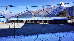 feel the tranquility at a badminton field in Dhaulagiri zone (qqazwws18) Tags: