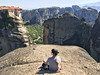 "I'm outdoorsy in that ""I like to sit on a rock"" kinda way (Melissa Osorio Photography) Tags: girl woman ooutdoors travel europe young beauty beautiful landscape photo photography mountains sky nature meteora grece"