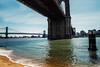 The Other Side (cvillandry) Tags: manhattan newyork nyc bridge water ocean river buildings sky brooklynbridge manhattanbridge newyorkcity fuji fujifilm