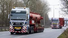 Zagrebacki Transporti pair (panmanstan) Tags: man tgx wagon truck lorry commercial international heavy haulage wideload freight transport vehicle a63 everthorpe yorkshire