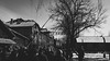 Entrance to Auschwitz. (jtatodd) Tags: 2018 adolfhitler amateur antisemitism arbeitmachtfrei architecture auschwitz bw barricade blackandwhite concentrationcamp digital entrance europe feburary fullframe gates genocide guide holiday holocaust ilce7 jewish krakow mirrorlesscamera nazi photography poland security sign sony sonyfe2870mmf3556oss sonya7 tourgroup tourist unesco vacation wwii winter