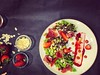 😍 #Salad with #strawberry and #hamont #deliciousfood #foodlover #food #plovdiv #plovdivfood #plovdivvibes #restaurant #yammy #foodpics #foodandwine #foodphotography #foodie #healthyfood #foodlove #foodpassion #instafood (Smokini) Tags: smokini restaurant plovdiv ресторант пловдив vegetarian glutenfree vegan вегетариански веган