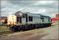 37601, Saltley (Jason 87030) Tags: tractor eps growler 37601 class37 grey depot stabled saltley birmingham midlands 1999 september old visit scan negative loco engine europeanpassengerservices