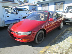1991 Toyota Sera (1) (Handsomejimfrommaryland) Tags: 1991 toyota sera phase ii iii seattle aurora ave highway 99 state washington red butterfly wing doors japanese naked blonde tits stomach hair armpit girl teen
