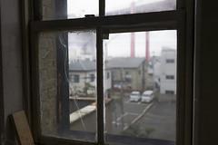 Broken window glass (mokuu) Tags: window 窓 crack ひび割れ scotch tape scotchtape