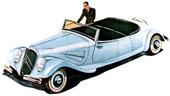 The Enigmatic Citroën 22 (andreboeni) Tags: classic car automobile cars automobiles voitures autos automobili classique voiture rétro retro auto oldtimer klassik classica classico citroën traction tractionavant 22cv 22 v8 frontwheeldrive publicity advert advertising advertisement illustration cabrio cabriolet convertible citroen