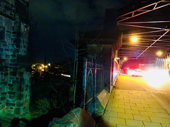 Disorder (sjpowermac) Tags: disorder holgate bridge 1e24 stpauls lights cars empty tree gate pavement