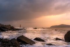 Sunset (Michal Zapsky) Tags: sunset sea summer rocks clouds busan south korea lighthouse lights travel seascape asia