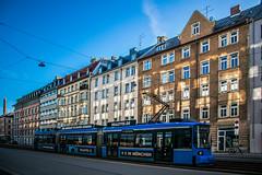 Realeyes (Melissa Maples) Tags: münchen munich deutschland germany europe nikon d3300 ニコン 尼康 nikkor afs 18200mm f3556g 18200mmf3556g vr tracks tramway tram buildings