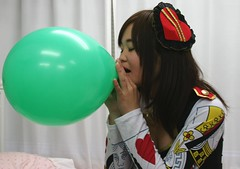Saint Patricks Day Party Plan (emotiroi auranaut) Tags: girl pretty nice lovely beauty beautiful saintpatricksday party blow blowing green balloon decoration toy breathe breathing inhale inhaling cute adorable plan planning fun teen teenager charming air helping helpful prepare preparing