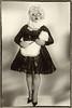MAID05 Big Bertha BW (bigbertha666) Tags: doll mask corset fetish maskedface maid sissy glasses cateye gloves fetishfashion blackwhite colored lack plastic pvc