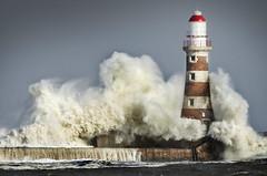 Big seas at Roker, Sunderland (DM Allan) Tags: roker lighthouse pier stormy seas waves sunderland wearside beastfromtheeast northsea coast