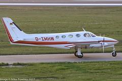 D-IMHW -  1982 build Cessna 340A, taxiing for departure on Runway 24 at Friedrichshafen during Aero 2017 (egcc) Tags: 340a1518 aero aerofriedrichshafen aerofriedrichshafen2017 bodensee ce340 ce340a cessna cessna340 cessna340a dimhw edny fdh friedrichshafen lightroom n6871c