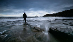 The Lookout (ianbrodie1) Tags: selfie stmarys lighthouse old hartley whitley bay cloud rocks water sea coast coastline waves cliffs sillouette longexposure seascape