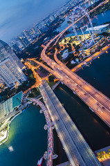 High angle view in Singapore (apiraksuwanbeer13213) Tags: marina marinabay bay marinabaysand singapore singaporeview helix bridge helixbridge