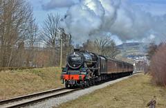 44871 (paul_braybrook) Tags: lms class5 black5 steamlocomotive ingrow worthvalleyrailway kwvr keighley oxenhope heritage railway trains westyorkshire