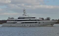 Global (4) @ Gallions Reach 20-03-18 (AJBC_1) Tags: riverthames gallionsreach northwoolwich eastlondon newham londonboroughofnewham london england greatbritain gb uk unitedkingdom luxuryyacht luxurymotoryacht boat vessel ship global lürssen nikond3200 ajbc1 ©ajc dlrblog