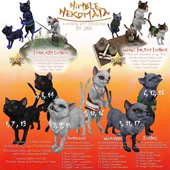 JIAN Nimble Nekomata ( Lootbox March ) ([JIAN]) Tags: secondlife mesh animals pets nekomata fantasy gacha creature folklore
