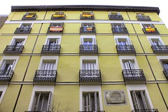 yellow facade (loganemalie) Tags: yellow facade madrid spain travel trip adventure architecture buildings street art photography cityscape landscape ville voyage espagne roadtrip