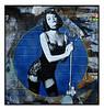 EMMA STONE STREET ART by POLAR BEAR. (StockCarPete) Tags: polarbear pasteup emmastone thekit stockings londonstreetart streetart cabaret choker wall shoreditchart london uk