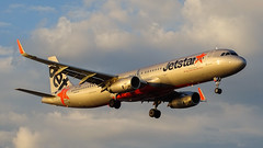 Golden Jetstar (hobart_aviation) Tags: hobart airport hba ymhb airbus a320 a321 golden sunset sony hx400v