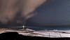 DSC_9746 (mark.helfthewes) Tags: lighthouse stars sky fence sea ocean hills dunes snow sand
