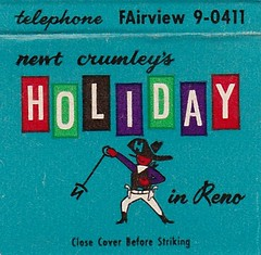 Holiday Hotel Reno MC 1 (hmdavid) Tags: vintage matchbook matchcover midcentury art illustration advertising