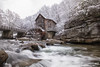 Glade Creek Grist Mill (Scriptunas Images) Tags: gladecreekgristmill gladecreek babcockstatepark westvirginia park snow winter water fall