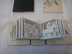miniature book (Ingvarsdottir Textile Art) Tags: miniature book horse acrylic wood fur own design 88cm