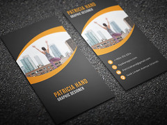 Corporate-Business-card-Orange (MD SHUVO HOSSAIN) Tags: business card clean color colorful cool corporate creative divergent elegant minimal new personal print template professional proposal red shape studio stylish visiting