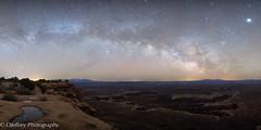 After the Rain (OJeffrey Photography) Tags: monumentbasin milkyway stars starscape jupiter grandviewpoint grandview canyonlandsnationalpark utah panorama pano nikon d850 ojeffreyphotography ojeffrey jeffowens