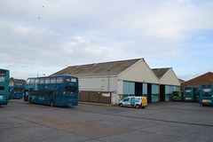Arriva Southern 6473 YY14WFV (Will Swain) Tags: arriva gillingham depot 30th december 2017 bus buses transport travel uk britain vehicle vehicles county country england english south east medway garage yard southern 6473 yy14wfv