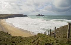 Holywell, Cornwall (jimj0will) Tags: holywell hollywell cornwall england coast fence fencedfriday gull rocks