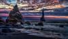 Der Strand von Vik (ellen-ow) Tags: island meer reynisfjara strand urlaub wasser europa felsen brandung sunset vik sea reise iceland ellenow nikond5 ozean himmel sky sonnenuntergang landschaft landscape bucht