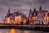 Dordrecht, Netherlands (hboudeling) Tags: dordrecht zuidholland netherlands nl historic dutch kade waterkade quay greysky rain cold