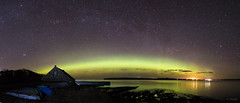 Aurora Panorama at Dunnet Bay (Gordon Mackie) Tags: aurora northernlights northcoast500 nc500 dunnet castletownharbour caithness scotland