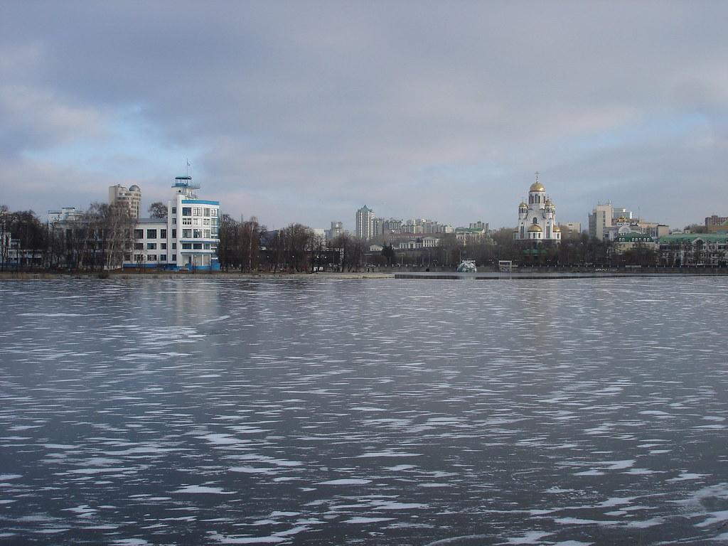 фото: Лёд на Городском пруду