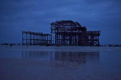 Brighton 19 March 2018 077 (paul_appleyard) Tags: brighton march 2018 pier west beach ruin ruined night