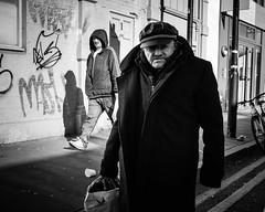 Distant Cousins (XBeauPhoto) Tags: feb2018 london candid citylife eastend streetphotography urban gritty streetcandid street photo monochrome blackwhite bricklane life character