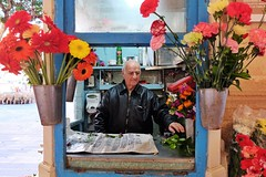 Flower Seller (Douguerreotype) Tags: candid city people street face malta valletta flowers urban