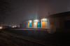 Untitled (elsableda) Tags: fog foggy night misty nightscape midnight southafrica kwazulunatal train station railways