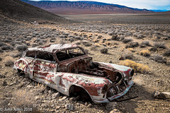 SCRUBBED ::: Death Valley (John E. Allen) Tags: aguereberry cars leicaq johnallen landscape desert deathvalley automobiles