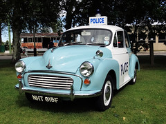 NHT 615F  1968  MORRIS Minor 1000  POLICE CAR 1098cc 2 Door Saloon  Photo 1 (Mr Sandtoft.) Tags: bluestwos weekend 20th 2ist august 2016 the trolleybus museum sandtoft