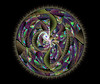 JLF0932 Black Vegetation (jlfractal) Tags: green circle dark fractalart fractal julofi apophysis juliandisc