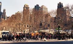 42nd Street and 6th Avenue (neilsonabeel) Tags: nikkormatft2 nikkormat nikon film analogue manhattan bryantpark newyorkcity street pedestrian