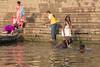 River Ganges, Varanasi (edina.cross) Tags: india asia river ganges varanasi bathing cow boy people hindu pilgrims ghat