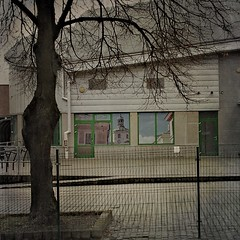 Green door (Jerzy Durczak) Tags: tree lublin