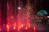 Red Fountain (peterkelly) Tags: digital panasonic lumix zs50 canada northamerica festival parcjeandrapeau montreal quebec osheaga osheagamusicartsfestival 2017 red encarnado fountain biosphere water lights